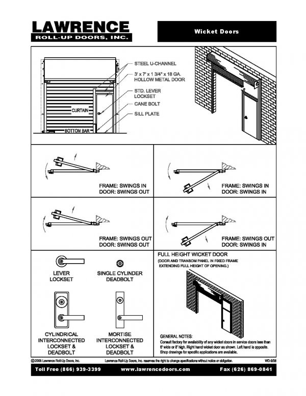 Wicket Doors :: Lawrence Roll Up Doors, Inc. :: Made In The USAu2026since 1925