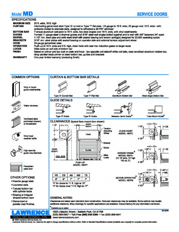 Service Doors  sc 1 st  Lawrence Doors & Service Doors :: Lawrence Roll-Up Doors Inc. :: Made In the USA ...