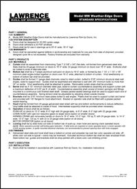 Microsoft Word - MW weather door specs 11-08